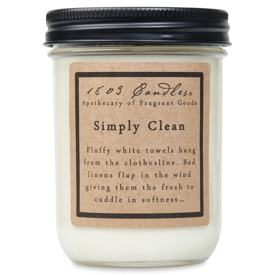 1803 Simply Clean Soy Candle - Vintage Crossroads