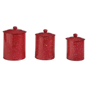 Granite Red Enamelware Collection - Vintage Crossroads