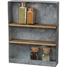 Load image into Gallery viewer, Galvanized Rectangular Shelf - Vintage Crossroads