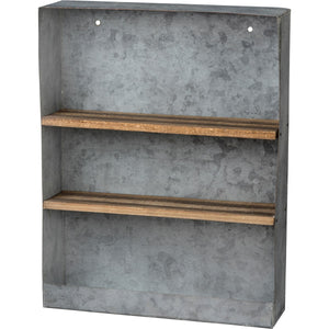 Galvanized Rectangular Shelf - Vintage Crossroads
