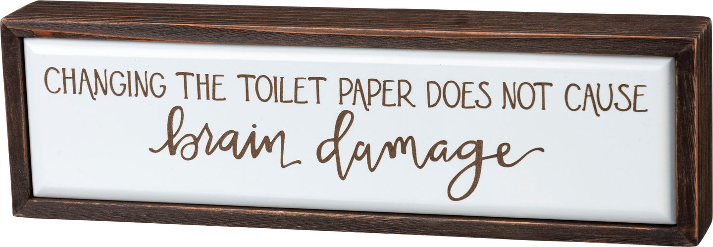 Toilet Paper Box Sign - Vintage Crossroads