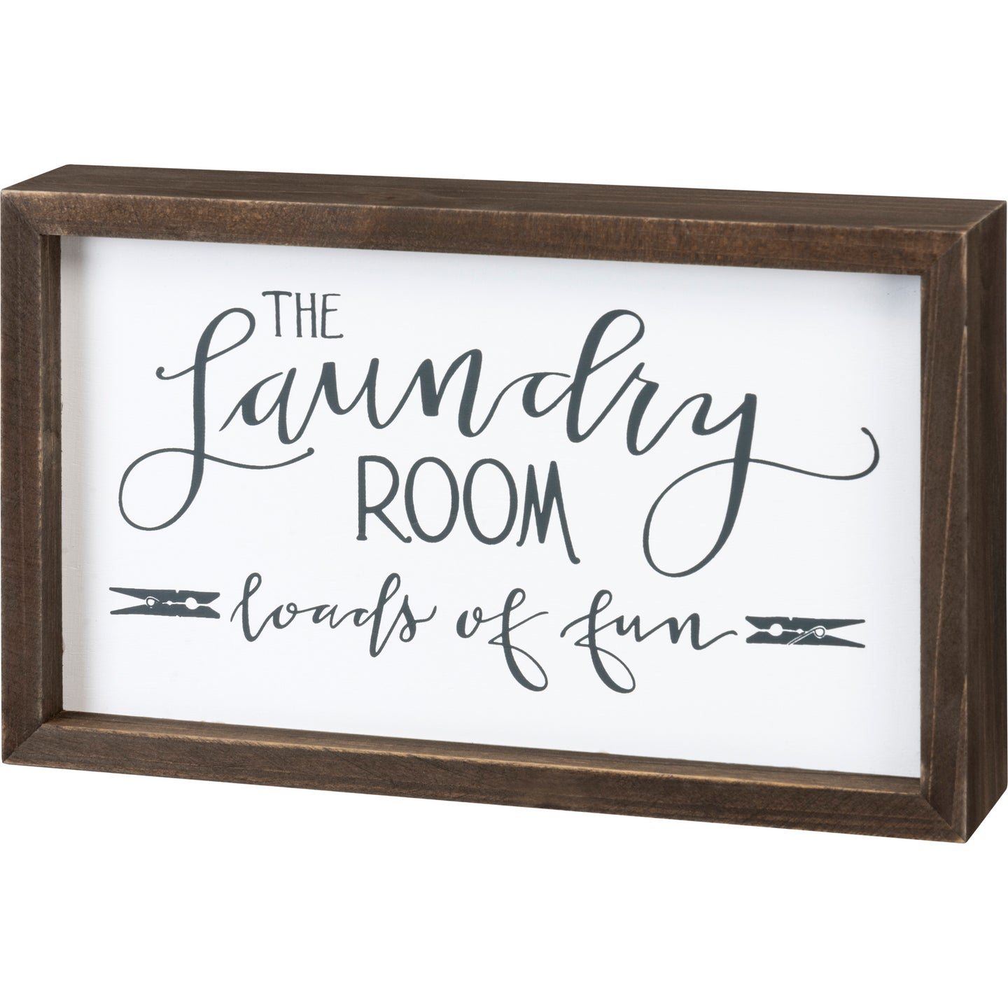 The Laundry Room Inset Box Sign - Vintage Crossroads