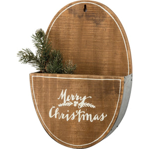 Merry Christmas Wall Pocket - Vintage Crossroads