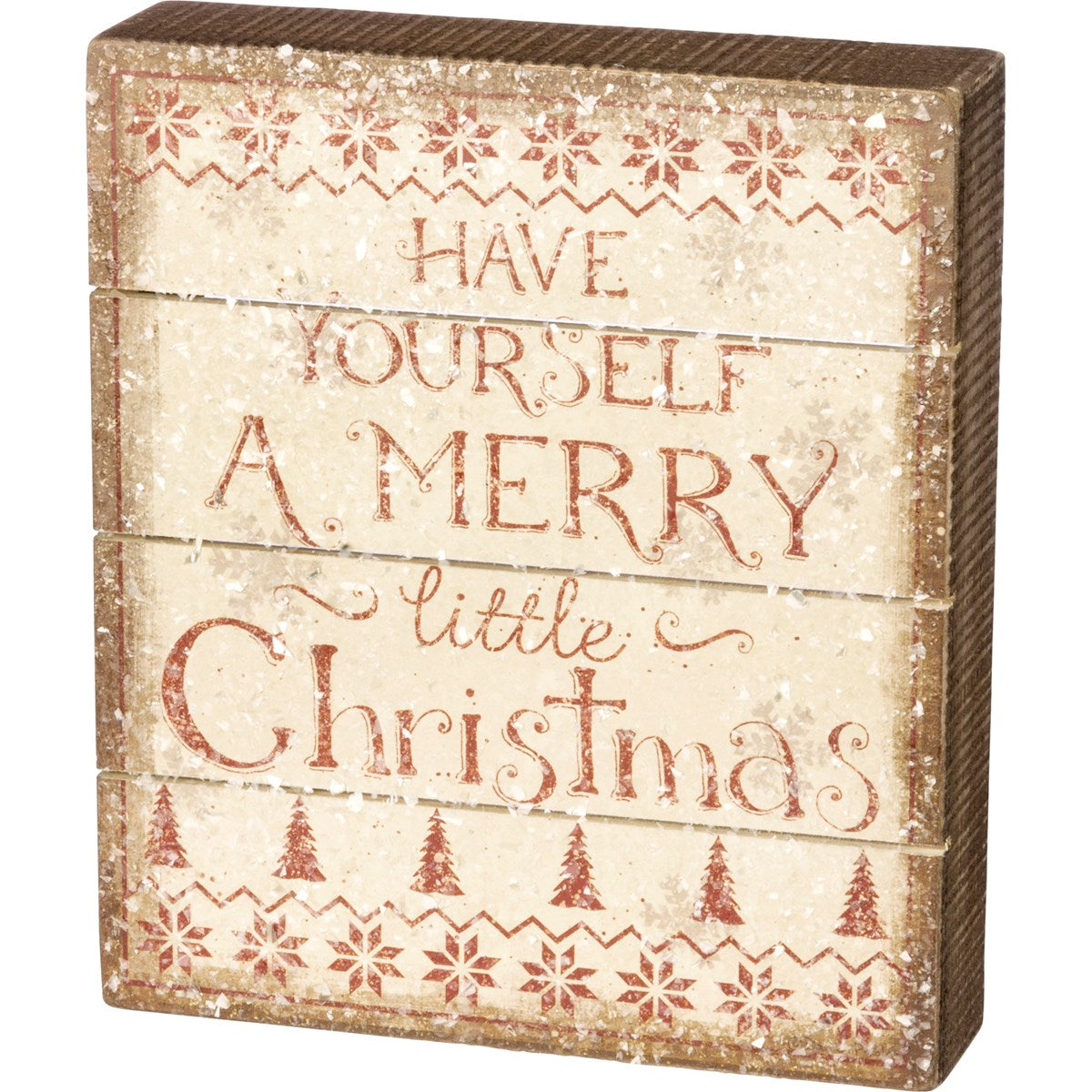 Have Yourself A Merry Little Christmas Box Sign - Vintage Crossroads