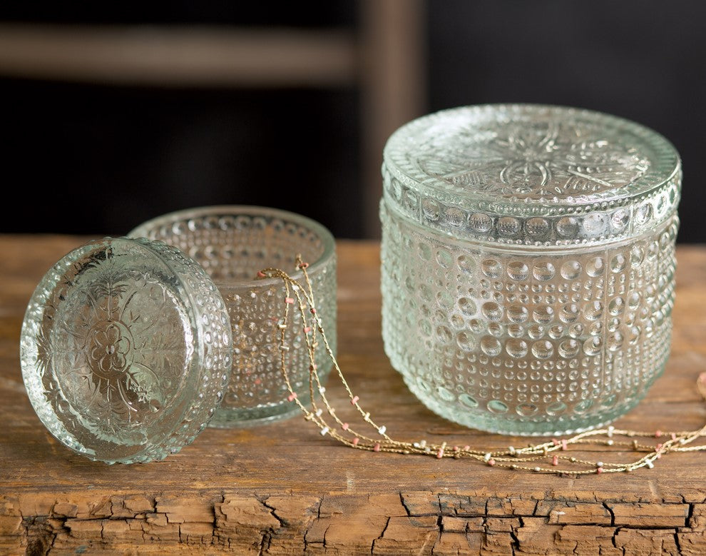 Decorative Glass Jars - Vintage Crossroads
