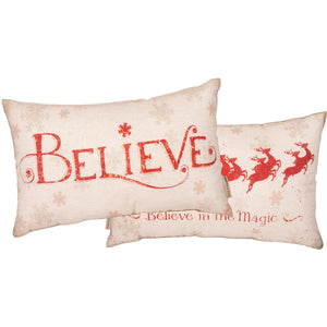 Believe Christmas Pillow - Vintage Crossroads
