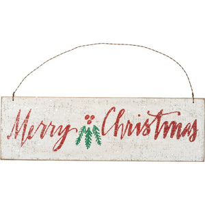 Merry Christmas Hanging Sign - Vintage Crossroads