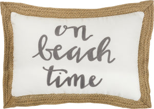 On Beach Time Pillow - Vintage Crossroads