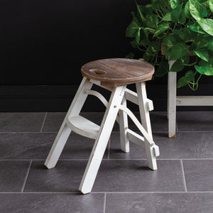 Farmstead Folding Stool - Vintage Crossroads