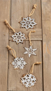 Rusty Metal Snowflake Ornament - Vintage Crossroads