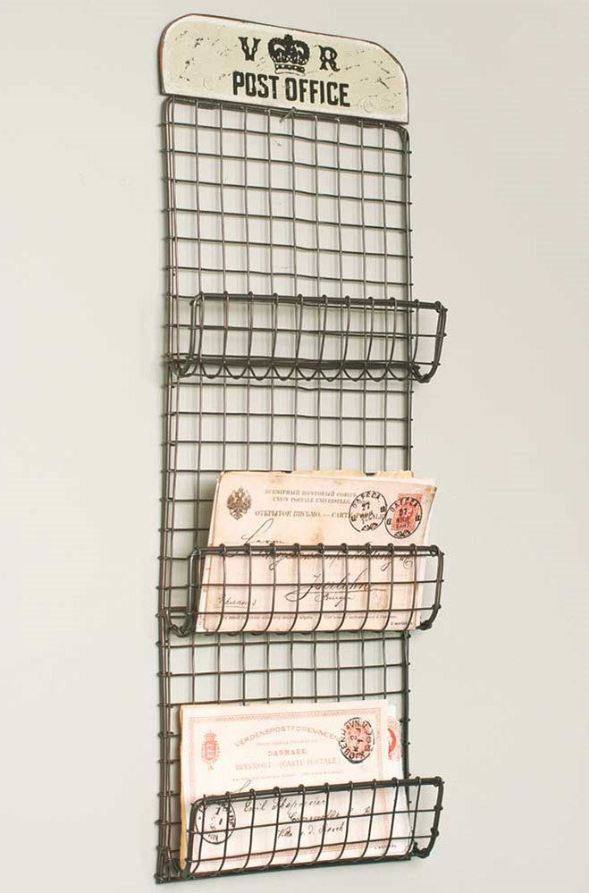 Post Office Wall Organizer - Vintage Crossroads