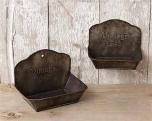 Vintage 1843 Wall Pocket - Vintage Crossroads