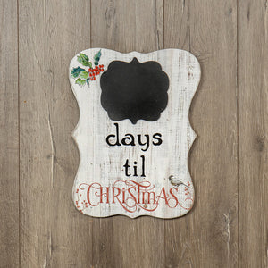 Christmas Countdown Sign - Vintage Crossroads