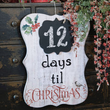 Load image into Gallery viewer, Christmas Countdown Sign - Vintage Crossroads