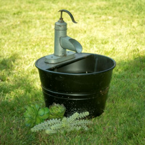 Metal Water Pump Fountain - Vintage Crossroads