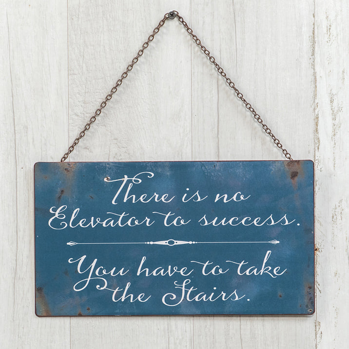 Elevator To Success Sign - Vintage Crossroads