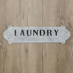 Metal Laundry Plaque - Vintage Crossroads