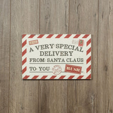 Load image into Gallery viewer, Christmas Special Delivery Sign - Vintage Crossroads
