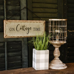 On Cottage Time Sign - Vintage Crossroads