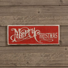 Load image into Gallery viewer, Red Merry Christmas Sign - Vintage Crossroads