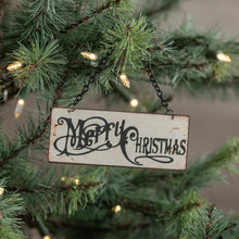 Load image into Gallery viewer, Tiny Merry Christmas Sign Ornament - Vintage Crossroads