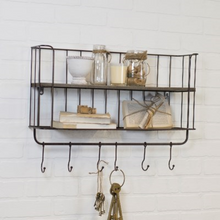 Load image into Gallery viewer, Metal Wall Shelf - Vintage Crossroads