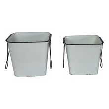 Load image into Gallery viewer, Square Metal Bucket - Vintage Crossroads