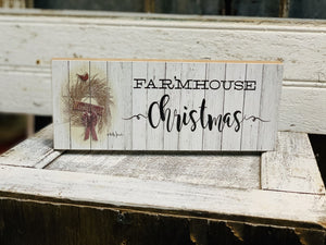 Farmhouse Christmas Block - Vintage Crossroads