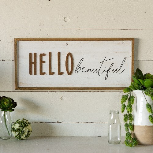 Hello Beautiful Sign - Vintage Crossroads