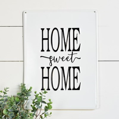 Tin Home Sweet Home Sign - Vintage Crossroads