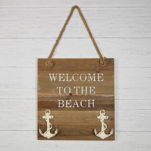 Welcome To The Beach Sign - Vintage Crossroads