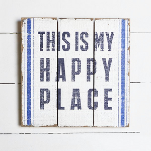 Beachy Happy Place Sign - Vintage Crossroads