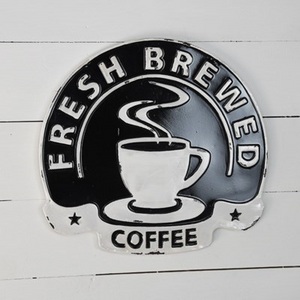 Fresh Brewed Coffee Sign - Vintage Crossroads