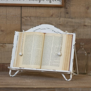 Metal Cook Book Holder - Vintage Crossroads