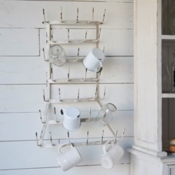 Metal Wall Mug Holder - Vintage Crossroads