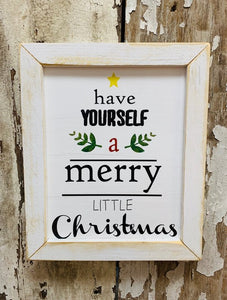 Merry Little Christmas Sign - Vintage Crossroads