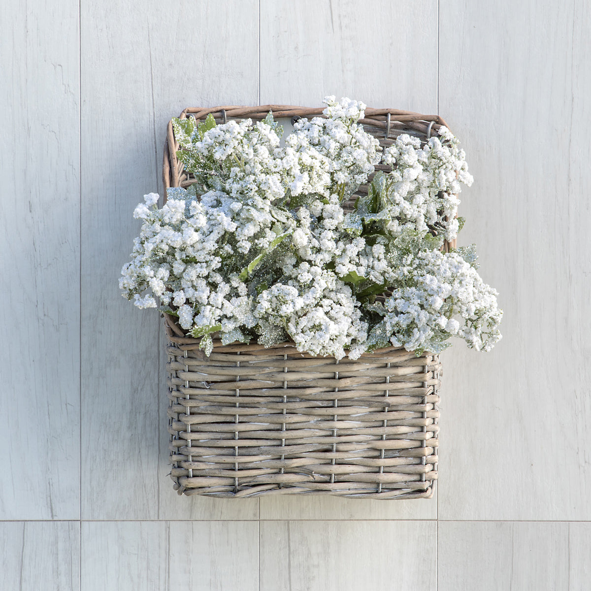 Grey Washed Wall Baskets - Vintage Crossroads