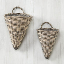 Load image into Gallery viewer, Wicker Sconce Wall Basket - Vintage Crossroads
