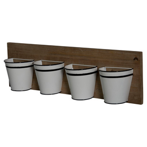 Mini Metal Buckets Planter - Vintage Crossroads
