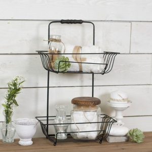 Metal Tiered Bath Basket - Vintage Crossroads