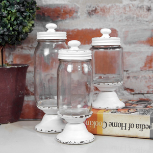 Glass Canister Jars - Vintage Crossroads