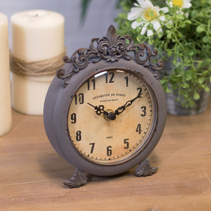 Antique Style Table Clock - Vintage Crossroads