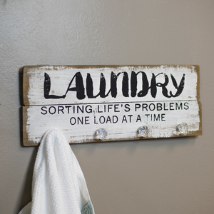 Wood Laundry Sign - Vintage Crossroads
