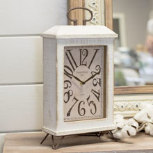 Load image into Gallery viewer, Wood Table Clock - Vintage Crossroads