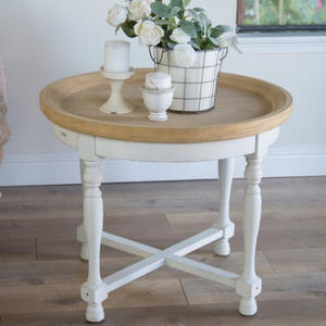 Round Wood Accent Table - Vintage Crossroads