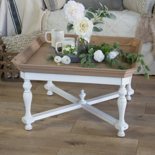Square Wood Table - Vintage Crossroads