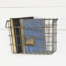 Load image into Gallery viewer, Wire Wall Basket - Vintage Crossroads