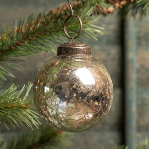 Silver Kugel Ornament - Vintage Crossroads