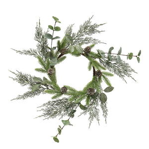 Pine Eucalyptus And Privet Candle Ring - Vintage Crossroads