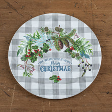Load image into Gallery viewer, Merry Christmas Greenery Plate - Vintage Crossroads